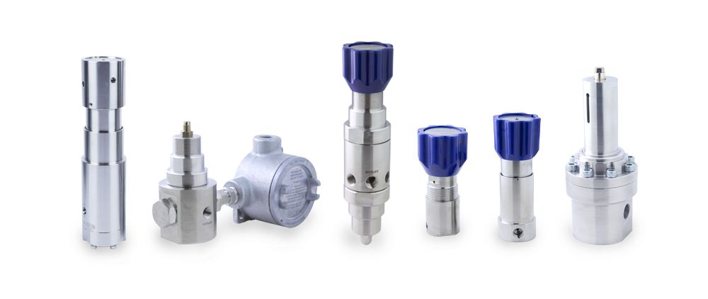 Pressure Tech has an extensive range of high quality, ISO-9001 accredited, stainless steel pressure regulators for use on gas and liquid applications