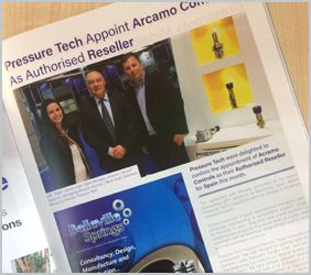 Valve User Magazine - Pressure Tech Appoint Arcamo Controls As Authorised Reseller
