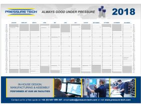 Request Your FREE Pressure Tech 2018 Wall Planner!