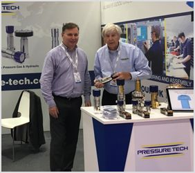 Steve Yorke-Robinson and Winston Wainwright on the Pressure Tech Stand at Adipec 2017