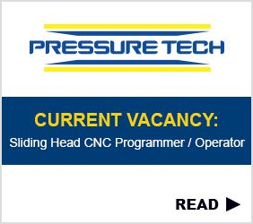 Sliding Head CNC Programmer / Operator Vacancy at Pressure Tech
