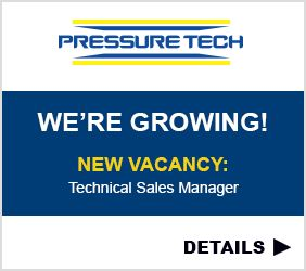 Pressure Tech Technical Sales Manager Field-Based Vacancy