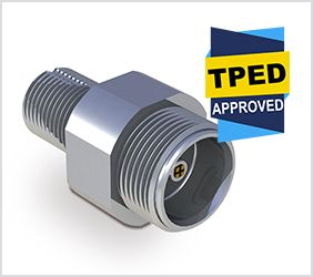 TPED 2010/35/EU certification on our CV414-SC self-closing cylinder valve