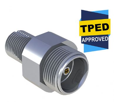 Pressure Tech CV414-SC TPED-Certified Self-Closing Cylinder Valve for High Pressure Gas Systems