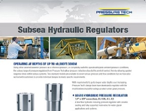 Pressure-Tech SS414 and SS690 Subsea Regulators for Subsea Operation