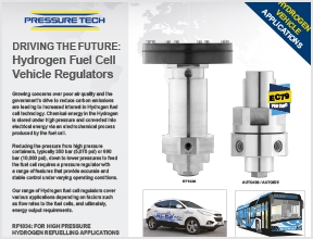 Pressure-Tech Hydrogen Fuel Cell Vehicle Pressure Regulators