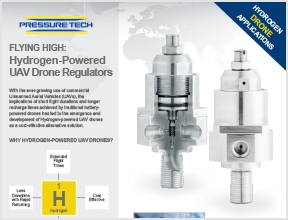 Pressure Tech Hydrogen-Powered UAV Drone Regulators